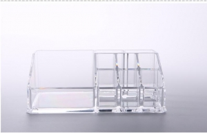 China Transparent Acrylic Cosmetic Organizer Modern Non - Toxic For Bottle Display on sale