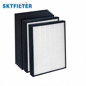 China True HEPA Replacement Filter Pack With 6 Activated Carbon Pre Filters To Stop Smoke Odor on sale