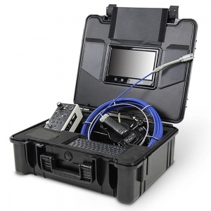 China 30M Fiberglass push rod sewer inspection camera for leak detection DVR recording on sale