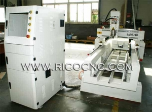 China 4 Axis CNC Wood Router Rotary Carver Table for 3d CNC Routing Cutting 4A5024R on sale