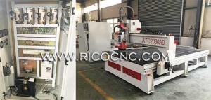 China Affordable Auto Tool CNC Router with HSD Automatic Tool Change Spindle ATC2030AD on sale