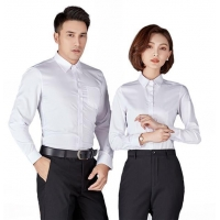 China Male and Female Business Long Sleeve Shirts on sale
