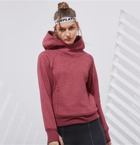 China Women's Basic Pullover Hoodie Fleece Jacket on sale
