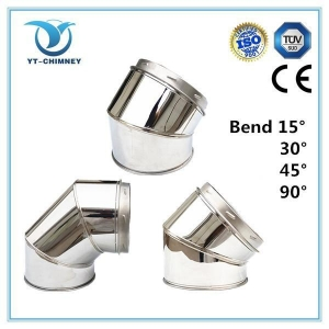 China 5''6''8''stainless steel insulated double wall chimney flue ELBOWS on sale