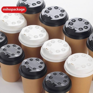 China Black /White Paper Coffee Cup Cap / Cover on sale