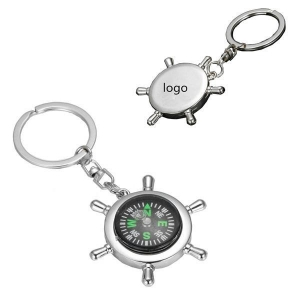 China Survival Wheel Ruder Compass Keychain-ADCS3118 on sale