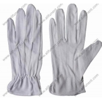China ESD Safety Gloves Cotton strip glove with pvc dots on sale