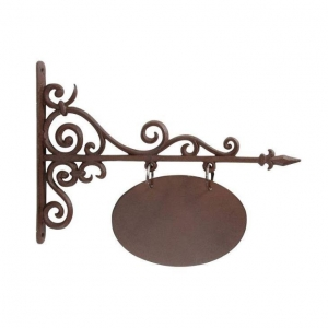 China Cast Iron Welcome Sign on sale