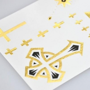 China Dazzling metallic gold temporary body art tattoos manufacturer on sale