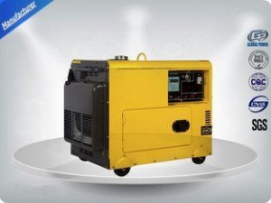 China 4.5kva Silent Diesel Generator For Home Use 3 Phase Portable Generator Set 72 dB With Digital on sale