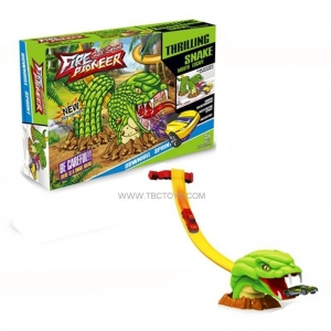 China Plastic snake track with alloy car toys on sale