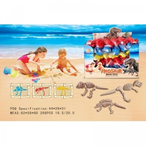 China Summer Toys Plastic Dinosaur Skeleton Mold Sand Beach Toy With Shovels on sale
