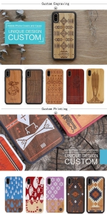 China Eco friendly Design Wooden Back Sell Real Wood Phone Cover Case for iPhone XR on sale