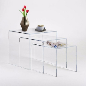 China Acrylic Nesting End Table Set on sale