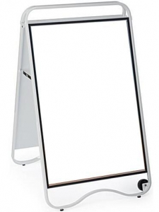 """China 24"""" x 36"""" Sidewalk Sign with Base Wheels, Magnetic Lens, Double Sided - White DSN12260 on sale"""