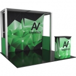 Trade Show Booths 10′ Trade Show Exhibit Backwall  Kit 04