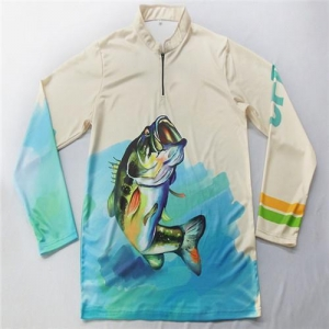 China 1/4 Zip Long Sleeve Fishing Shirts on sale