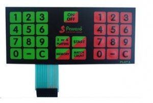 China Anti Corrosion Multiple Dome Custom Membrane Keypad For TV Remote Control on sale