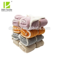 China Machine Washed Hot Sale Yellow Sherpa Blanket From China Factory on sale