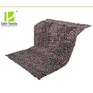 China Leopard Printed Full Size 100% Polyester Throw Blanket for Sale on sale