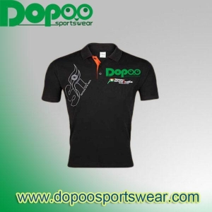 China Black fiting body polo shirts for retail store DPMP001 on sale