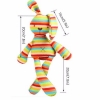 China Baby kids bunny rabbit sleeping comfort doll rainbow strip plush toys soft baby lovely animal for sale