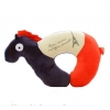 China animal shape custom wholesale u shape pony plush neck pillow for sale