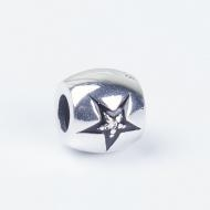 China 925 Sterling silver Star Enamel zircon pave charm on sale