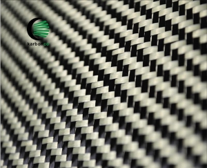 China Color hybird aramid carbon fiber fabric red carbon kevlar hybird fabric on sale