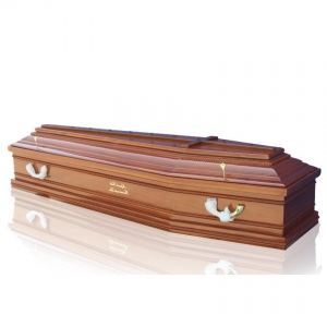 China Coffin JS-E054 Trade assurance christian handcraft funeral casket and coffin with cross on sale