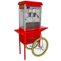 China Commercial Popcorn Maker With Cart on sale