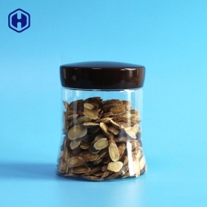 China New Design Shape 510ML 17OZ Plastic PET Jar With Easy Open Ends Lid And Screw Cap on sale