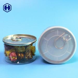 China Airtight Nitrogen Flush 90ML 100ML Mini Plastic Clear PET 3.5Gram Weed Herb Cans on sale