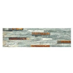 China Colorful Water Flow Slate Stacked Stone Cladding on sale