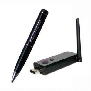 China 2.4G Wireless Ultra-low lux Pen Camera + Wireless USB Receiver DVR Distance 100M on sale