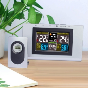 China Wireless Digital Colorful LCD Display Indoor Outdoor thermometer hygrometer on sale