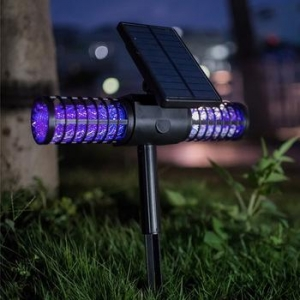 China Solar Waterproof Rechargeable USB Charger Electric Mosquito Killer UV LED Lamp on sale