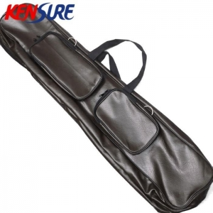 China PVC Artificial Leather Material Soft Fishing Rod Tackle Storage Bag KSA39 on sale