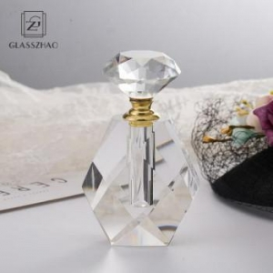 China Luxurious Human Body Oil Crystal Perfume Bottle/k9 Crystal Perfume Oil Bottles Decorated on sale