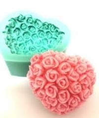China Heart Shape 3D Silicone Soap Mold on sale