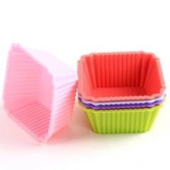China Silicone Baking Cup Square Shape on sale