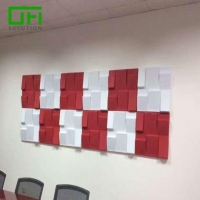 China PET Acoustic Decorative Soundproof Wall Panels on sale