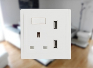 China Power supply ABS 16A/250V schuko electrical wall socket on sale
