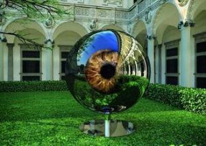 China Eyeball Design Steel Artworks Artists Sculpture For Garden Decoration on sale