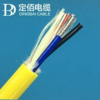 China Green Remotely-operated Vehicle High Temperature Resistance Fiber Optic Cable on sale