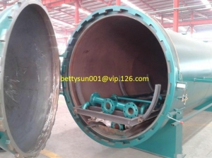 China CCA wood timber treatment equipment DN2200-24000mm rubber beech treatment autoclave on sale