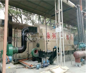 China DZH 6 ton horizontal commercial steam boiler vertical surface for wood industry on sale