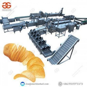 China French Fries Potato Chip Production Line Frying Potato Chips Making Machine Price on sale