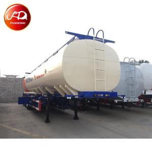 China Heavy duty diesel fuel tank 3 axle oil tanker trailer for Nigeria on sale