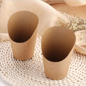China Disposable French Fries Kraft Paper Cup on sale